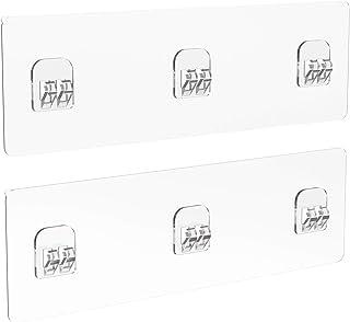 浴室ラックテープ 3フック 強力粘着テープ 切り替え用 透明粘着シート 耐荷重10㎏ 穴あけ不要 強力粘着固定 壁掛けラック用テープ 貼り付け跡なし 壁傷つけない 防水