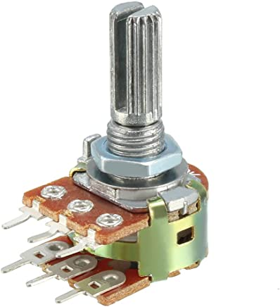 uxcell Variable Resistors 双旋转碳膜锥形电位计 20K -1Pcs a18081800ux0145