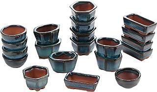 Happy Bonsai 20 Mini Glazed Pots/Small Succulent Plant Flower Planters