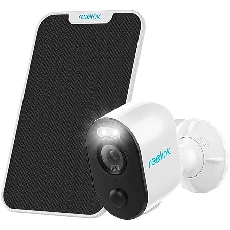 Reolink Caméra Surveillance IP Batterie sans Fil WiFi Solaire Extérieur WiFi Projecteur Time Lapse 1080P Vision Nocturne Couleur Audio Bidirectionnel PIR Fente Carte SD Argus 3 + Panneau Solaire