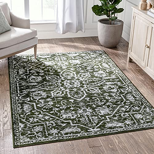 """Well Woven Della Green Vintage Medallion Pattern Area Rug 5x7 (5'3"""" x 7'3"""")"""