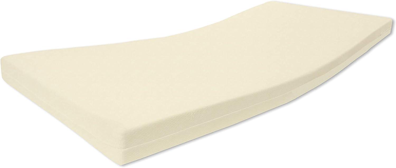 Alanpur®: Vita • Colchón ortopédico de espuma fría • H2,5 de dureza media a firme • Altura de aprox. 13 cm de aloe vera lisa funda 60 °C certificado Öko-Tex, fabricado en Alemania (120 x 180 cm)