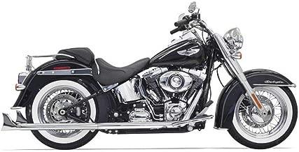 Bassani Xhaust 07-17 Harley FLSTC True Dual Exhaust with Fishtail Mufflers (2.25
