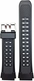 20mm Black Rubber Watch Band - Comfortable and Durable PVC Material