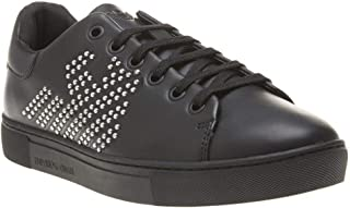 Emporio Armani Stud Logo Court Womens Sneakers Black