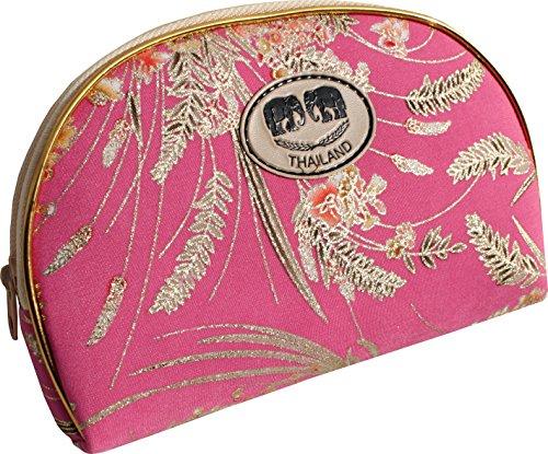 Raan Pah Muang Geldbörse aus chinesischer Seide, groß, 3 Stück - Pink - Groß