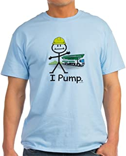CafePress Concrete Pumping Ash Grey T-Shirt Cotton T-Shirt