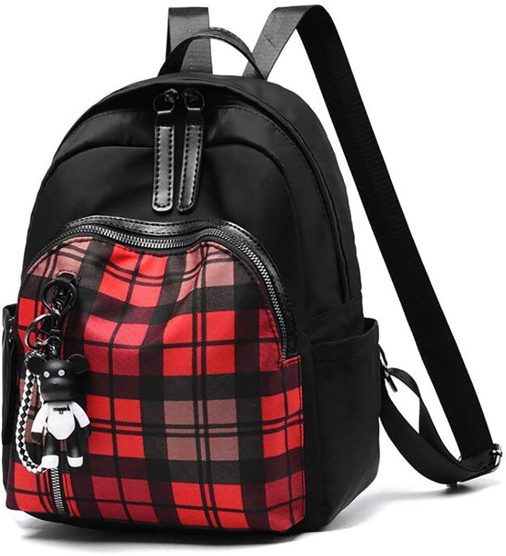 Nvfshreu Daypacks Erwachsene Vintage Stylisch Backpack Fashion Damen Tasche Casual Multifunktions Einfacher Stil Leder Rucksack Handtasche Pu 27  12  33Cm (Farbe   Colour, Größe   One Größe)