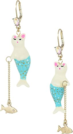 Betsey Johnson - Purmaid and Fish Drop Earrings