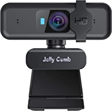 Webcam with Microphone - Jelly Comb Autofocus Full 1080P HD USB Web Camera with Privacy Cover, Computer Webcam for Video C...