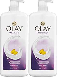 Olay Age Defying Body Wash with Vitamin E, 40 Fluid Ounce (Pack of 2)