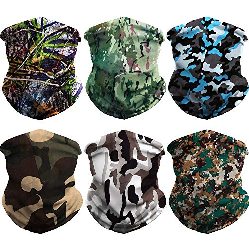 WONBURY Headband Bandana 12-in-1 Headwear Neck Gaiter Headwrap Balaclava Facemask Helmet Liner - Versatile Sports Casual Multifunctional Seamless for Camping Running Cycling Fishing & Sport