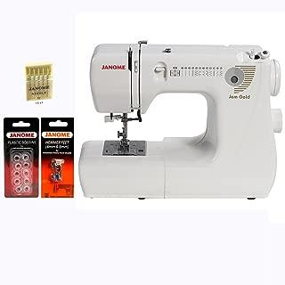 Janome Jem Gold 660 Sewing Machine w/3-Piece Bonus Kit