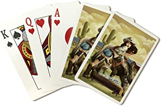 Cowgirl Pinup (Playing Card Deck - 52 Card Poker Size with Jokers)
