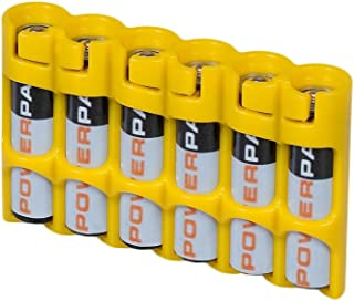 "(Yellow) - Storacell by Powerpax Slim Line ""AAA"" Battery Caddy, Yellow - Holds 15cm AAA"" Batteries"