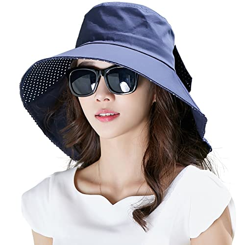 UV Protection Sun Hats Packable Summer Hat Women w Ponytail Chin Strap  55-61CM 207aab3ae56a