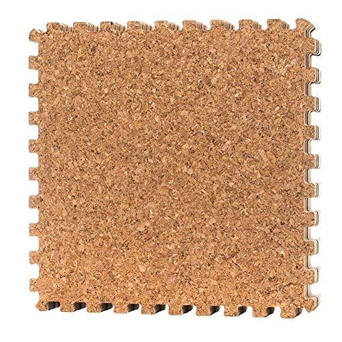 GYYARSX Puzzlematte Kork Ineinandergreifende Fliesen Böden Schützen Lärmminderung rutschfest Einfach Zu Säubern Fitnessstudio Im Freien, Hellbraun (Color : Brown, Size : 30X30X0.8CM-25PCS)