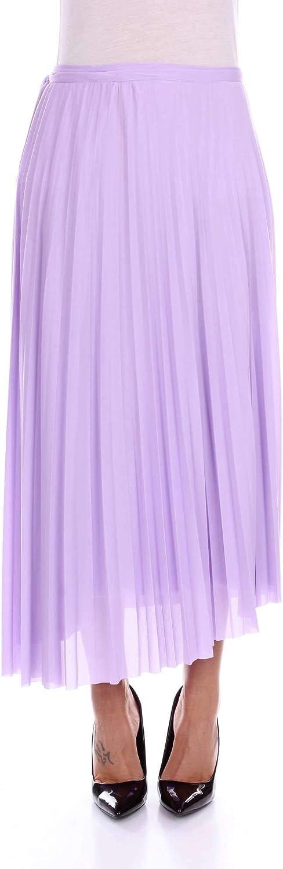 Mauro Grifoni Women's GB250019purpleC Purple Cotton Skirt