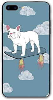 French Bulldog Skateboard Phone Cases for iPhone 7 Plus Or 8 Plus Apple Cell 8P 7P Mobile Shell Cover Case 5.5 Inch with Soft TPU+PC Frame