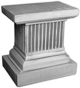 gartendekoparadies.de Massiccia Grande Colonna piedistallo in Pietra a Colonna Rettangolare con Statua in Pietra antigoccia