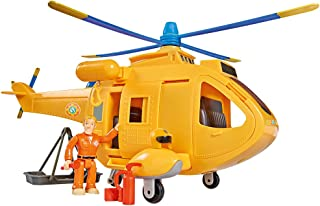 Smoby–109251002002–Fireman Sam Helicopter–Wallaby 2+ 1Figurine–Features Sound and Light