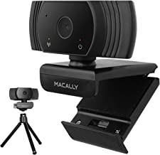 Macally 1080P Webcam with Microphone and Tripod - Stay Connected Virtually - Wide Angle HD Webcam with 120° Views, 30FPS, ...