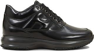 Hogan Scarpe da Uomo Interactive HXM00N000107J7B999 Sneakers Sportive Ginnastica in Pelle Nere Nuove Classiche Comode Calz...