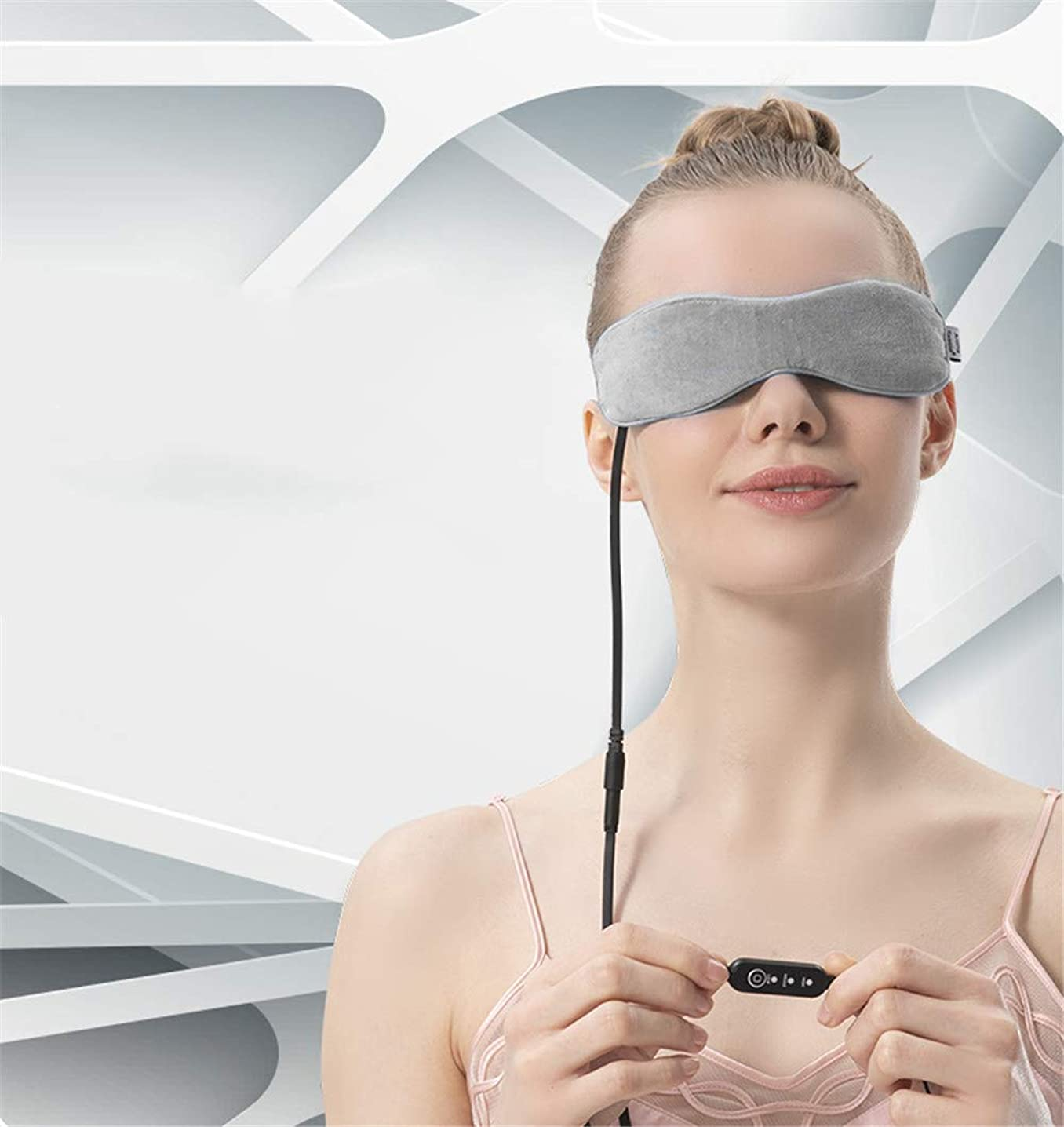Xinrangxin USB Steam Eye Mask, Fast, Simple, Effective Treatment of Blepharitis, with Time and Temperature Control, Relieves Edema Eyes, Relieves Dry Eye Syndrome, Dry Eye and Tired Eyes (Gray)
