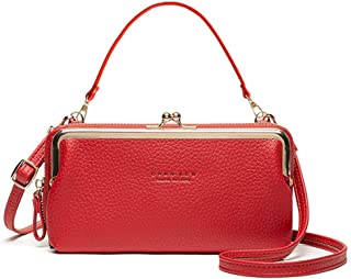 Brand Solid Leather Shoulder Bag Crossbody Bags for Women Luxury Purses Handbags Women Phone Bags Handbags Famale Messenge...