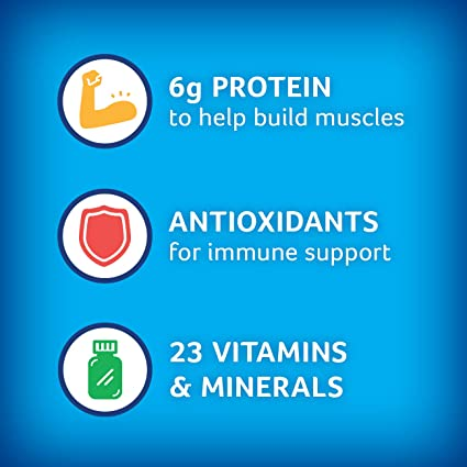 PediaSure Grow & Gain Non-GMO and Gluten-Free Shake Mix Powder, Nutritional Shake For Kids, With Protein, Probiotics, DHA, Antioxidants*, and Vitamins & Minerals, Vanilla (48 servings – 6 cans)