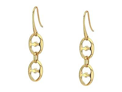 Kate Spade New York Duo Link Double Drop Earrings (Gold) Earring