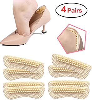 Heel Cushion Inserts for Women|4 Pairs(2mm&5mm Thickness respectively) | Heel Protectors|Heel Pads |Heel Grips| High Heel Insert Preventing Heel Rubbing and Blisters and Slip Out(Beige) (A)