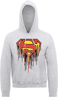 DC Comics Men's DC0000336 Official Superman Drip Logo Hoodie