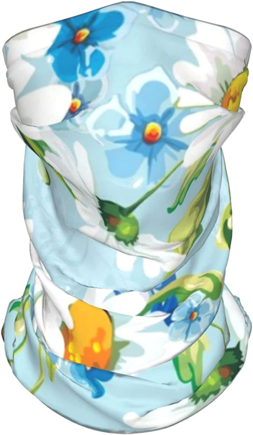 Drawing Flowers Daisies Neck Gaiter Multipurpose Headwear Ice Silk Mask Scarf Summer Cool Breathable Outdoor Sport 4 Pcs