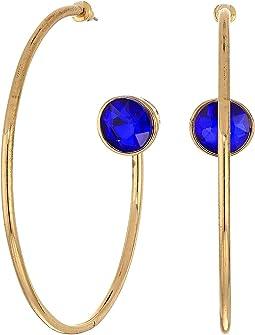 Open Back with Rhinestone Hoop Earrings