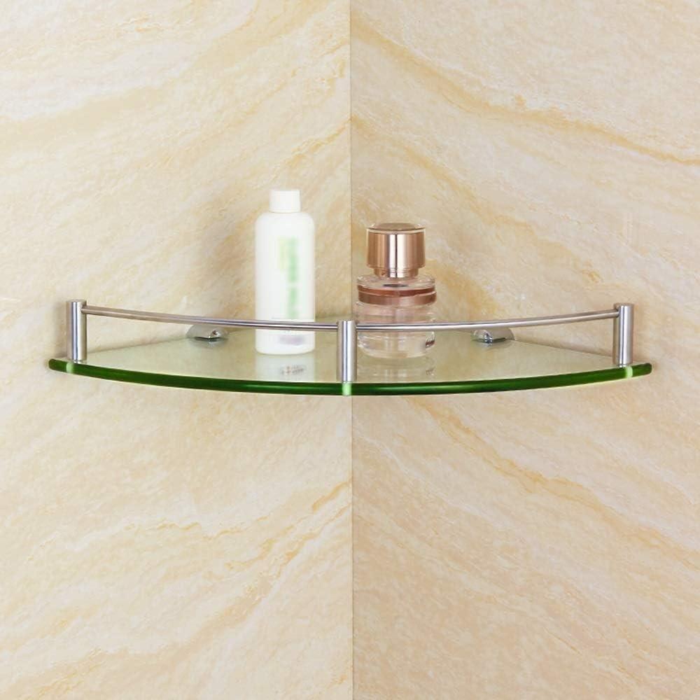 Dealing full price reduction Shower Storage Bathroom Shelf Tempered Fr Corner Glass Ranking TOP5