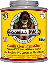 Gorilla PVC Cement 16 oz. R1585C Medium Body PrimaGlue, One-Step, Self-Priming, Non-Toxic Odorless, Non-Flammable, No Primer Required Eco-Friendly Low in VOC's & Durable Easy Use by Raven