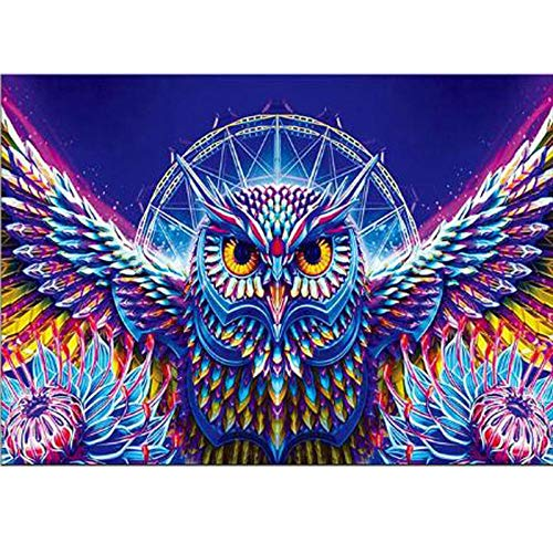 Diopn 5D Diamant Schilderij Uil Diamant Borduren DIY Dieren Diamant Mozaïek Daimond Schilderij Cross Stitch Vogels Cartoon Uil Muursticker 40*50