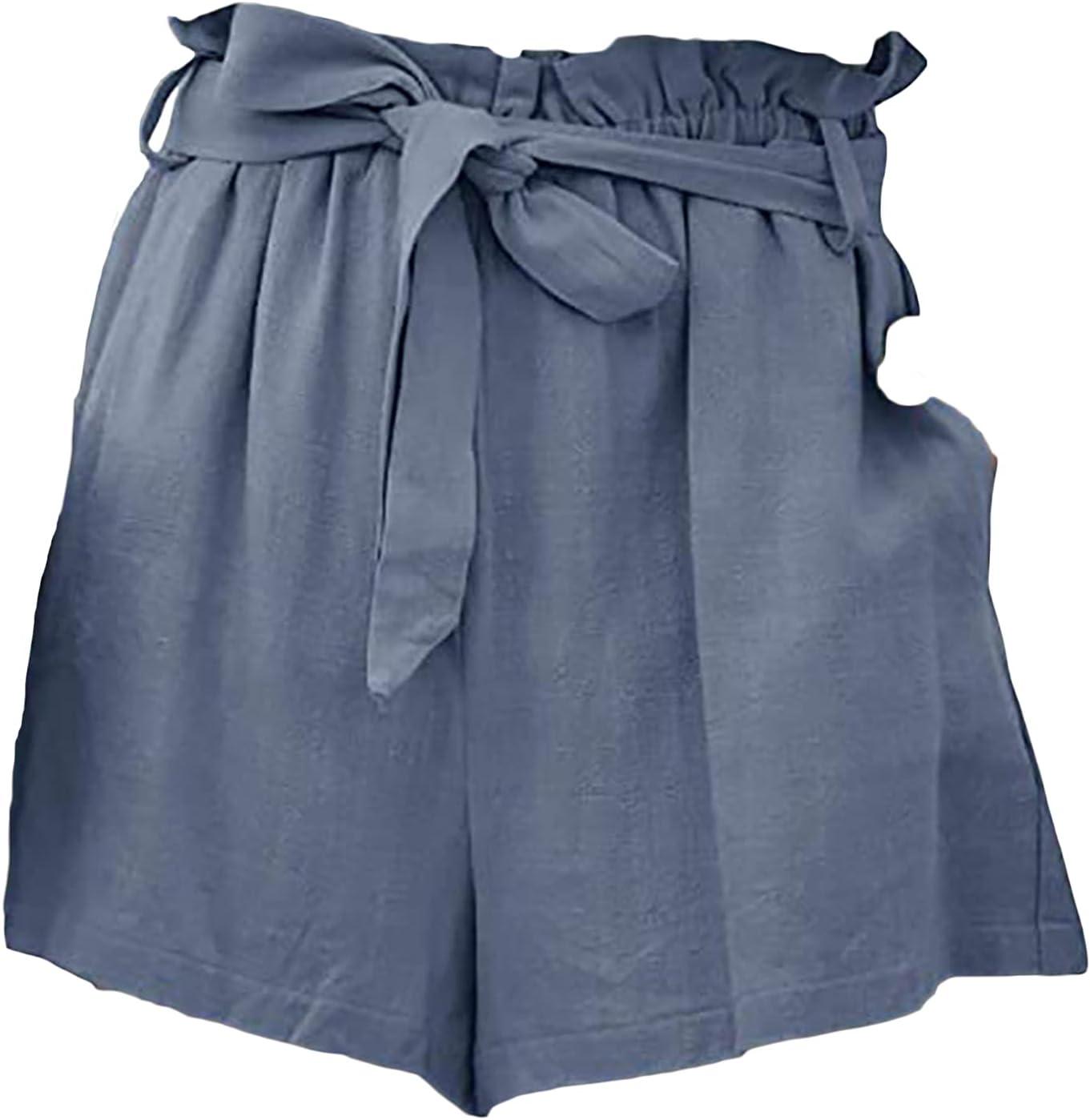Women's Bow Tie Ruffle Shorts High Paper Waist Bag Max 56% OFF Bowknot Loose Japan Maker New
