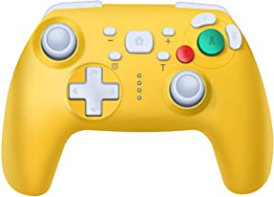 Pro Controller for Switch, PowerLead Wireless Controller Supports Motion Sensing and Double-Vibration Function Compatible with Switch Console and Windows PC