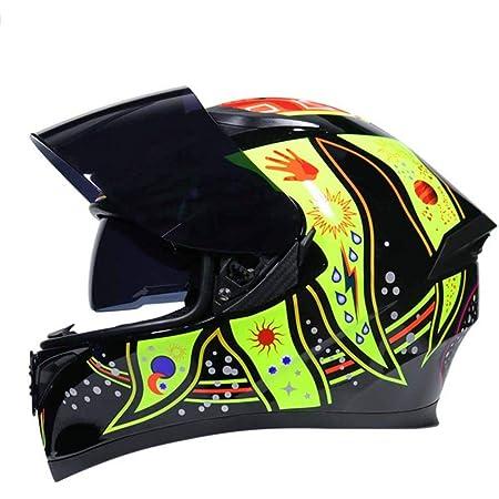 Cascos Integrales De Invierno Casco Modular De Carreras De Motos con Seguridad De Doble Lente Casco Protector De Moto De Color