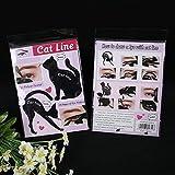 Tia-Ve 2pcs Mujeres Gato línea Pro Herramienta de Maquillaje de Ojos delineador de Ojos Plantillas Plantilla Shaper Modelo