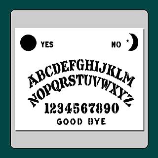 8 X 10 Ouija Spirit Board Stencil Template Moon/Star/Sun/Supernatural/Halloween/Ghost