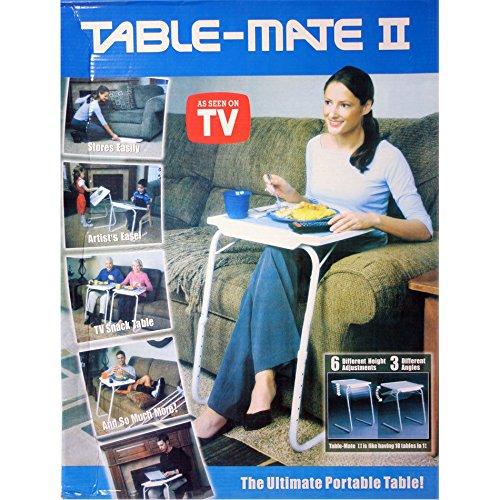 BARGAINS-GALORE Portable Table Mate Mate Tavolo Pieghevole, Regolabile