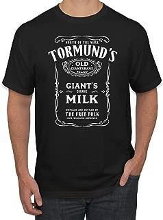 Tormund's Milk Old Giantsbane Organic North of The Wall   Mens Pop Culture Graphic T-Shirt
