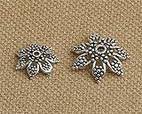 Luoyi Tibetan Style Hollow Flower Bead Caps, 7-petal (H031T) (Big)