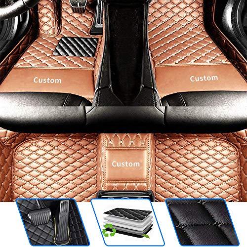 Tuqiang Alfombrillas de coche personalizadas aptas para D Edge Explorer Ecosport Escape Expedition F-150 Falcon KA Fiesta Focus C-MAX Fusion, antideslizantes, juego completo dorado