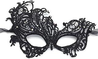 iMapo Masquerade Mask with White Rhinestones, Halloween Mardi Gras Masks for Women Lady, Christmas Cosplay Venetian Party ...