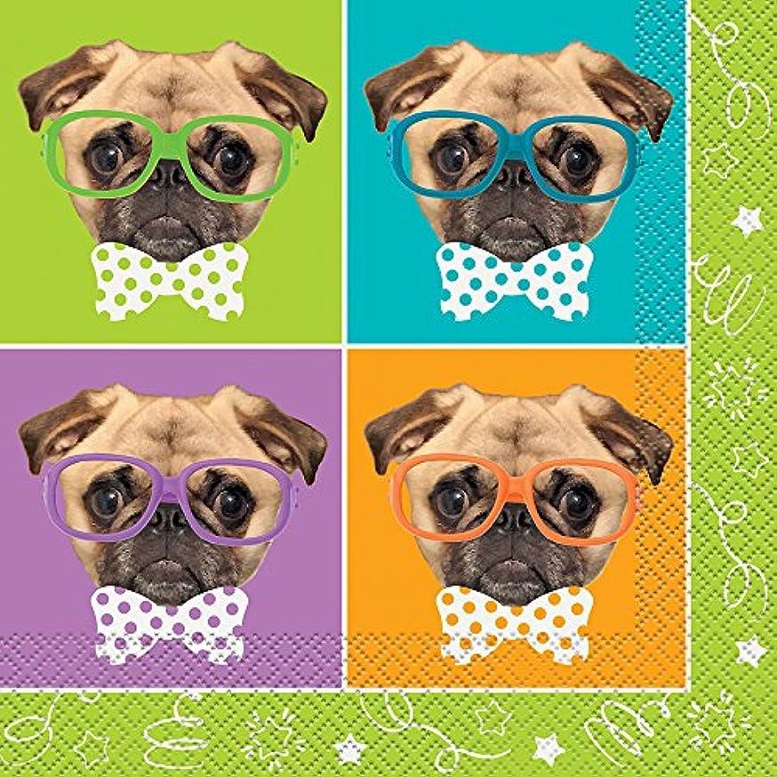 Pug Puppy Birthday Party Napkins, 16ct