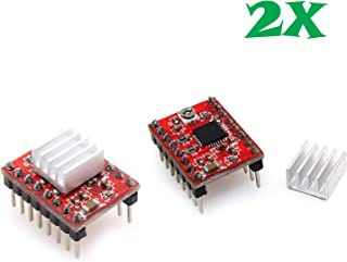 A4988 Stepper Motor Driver Module RepRap 3D Printer Pololu StepStick (Pack of 2) by Envistia Mall